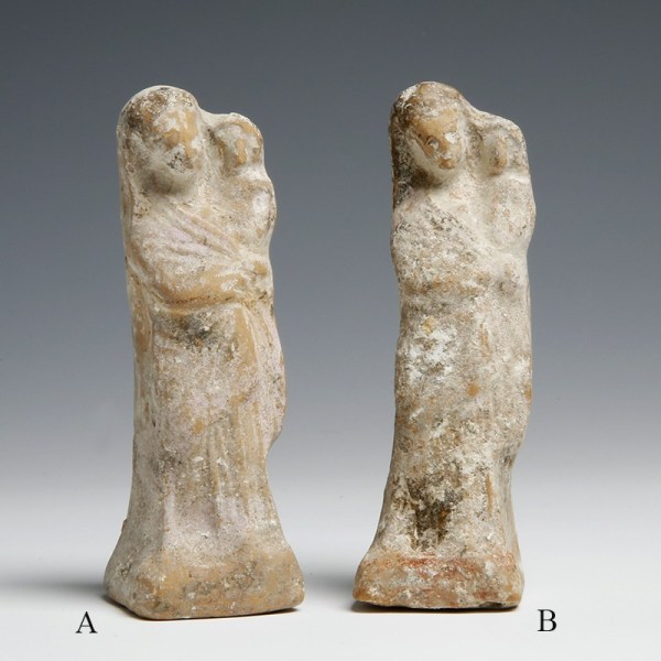 Greek Terracotta Figurines of Mother and Child