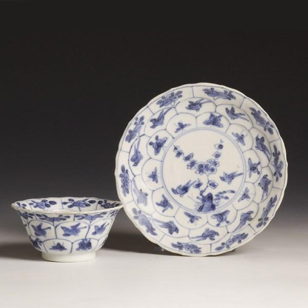Kangxi Small Tea Bowl with Matching Saucer
