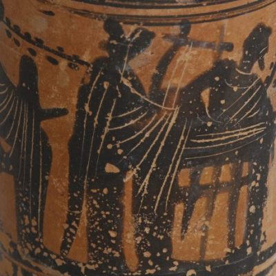 snapshot of a greek lekythos with symposium scene