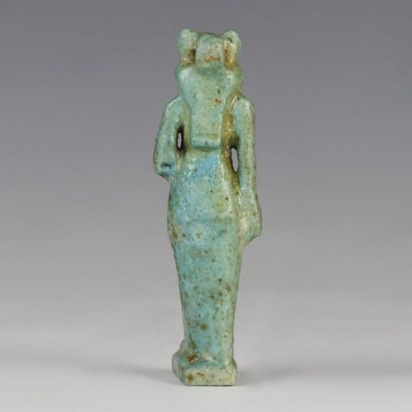 Standing Sekhmet Holding Papyrus Sceptre