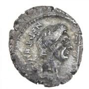 Pompey the Great AR Denarius, Sicily, BC 46-45