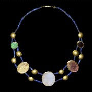Greek Hellenistic gold and stone necklace