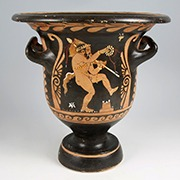 Ancient Greek Red-figure Krater with a Satyr