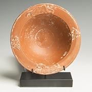 Roman pottery redware bowl