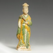 Chinese Ming Dynasty Attendant with Agricultural Tool