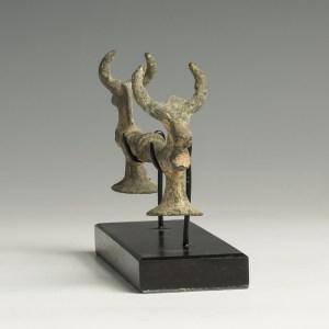 luristan bronze bull headed handle