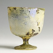 Roman glass drinking chalice