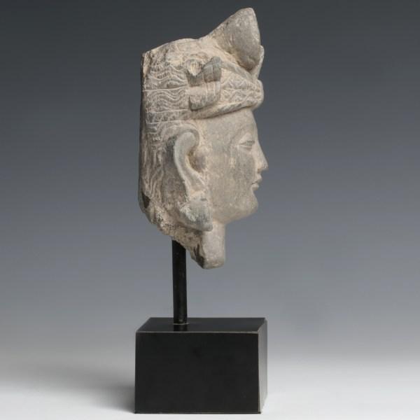 Gandhara Bodhisattva Avalokiteshvara Stone Head