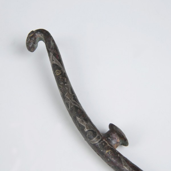 Chinese Han Dynasty Inlaid Bronze Belt Hook