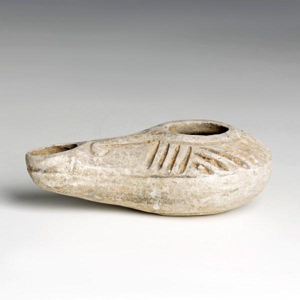 Miniature Hellenistic Greyware Lamp