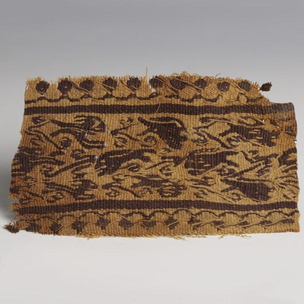 Coptic Textile Fragment with Zoomorphic Decoration