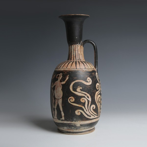 Apulian Lekythos with Two Dancers
