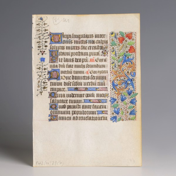Book of Hours Decorated Leaf