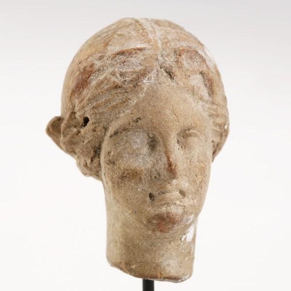 Greek Terracotta Head of a Woman