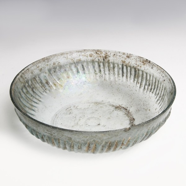 Exquisite Roman Glass Ribbed Bowl