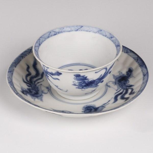 Kangxi Saucer and Cup Set with Phoenixes
