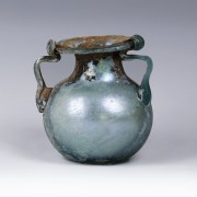 Roman Blue Glass Jar with Trail Decoration