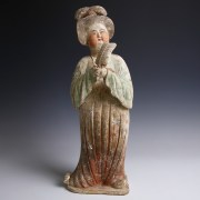 Tang Dynasty 'Fat Lady' Terracotta Figurine