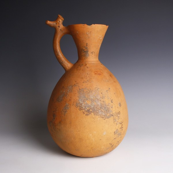 Iron Age Amlash Jar with Stylised Stag-Shaped Handle