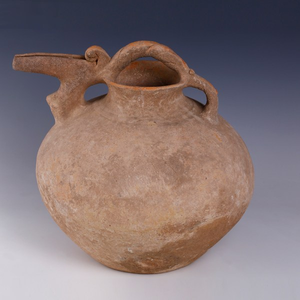 Luristan Spouted Jar with Twisted Handle