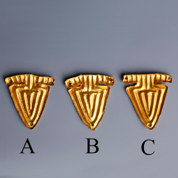 Viking Gold Appliques with Triangular Design
