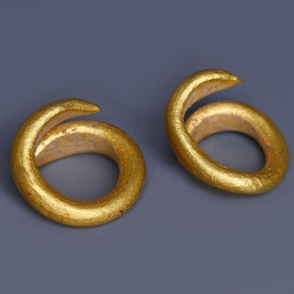 European Bronze Age Gold Hair Rings