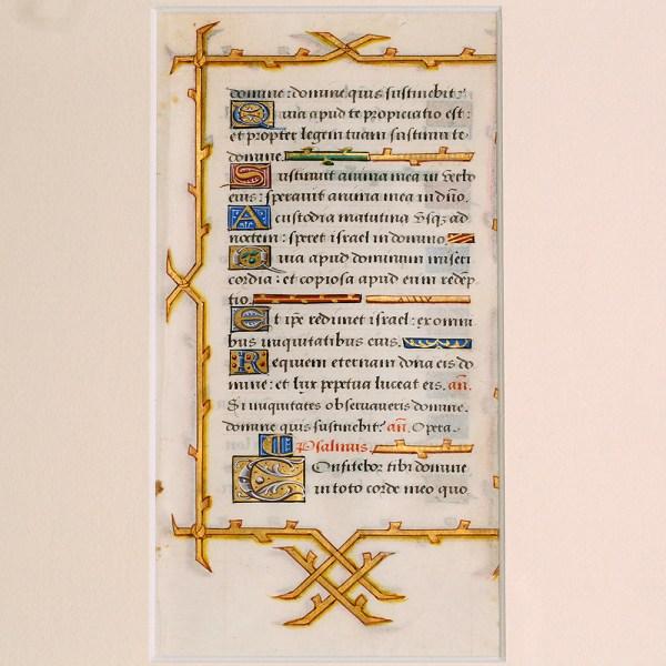 Framed Book of Hours Leaf