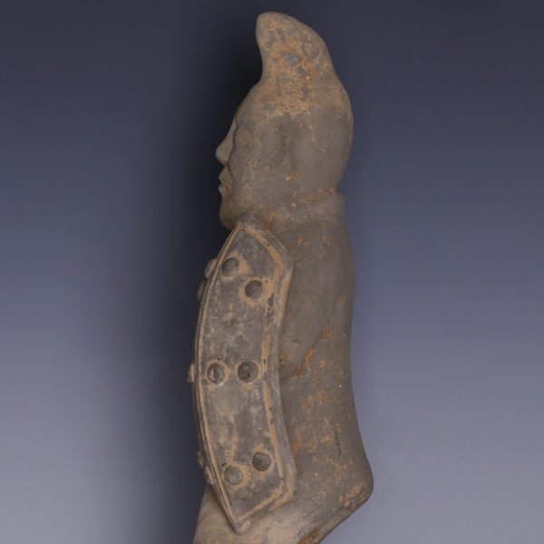 Han Dynasty Warrior Figure with Shield