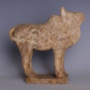 Tang Dynasty Ox Terracotta Statuette