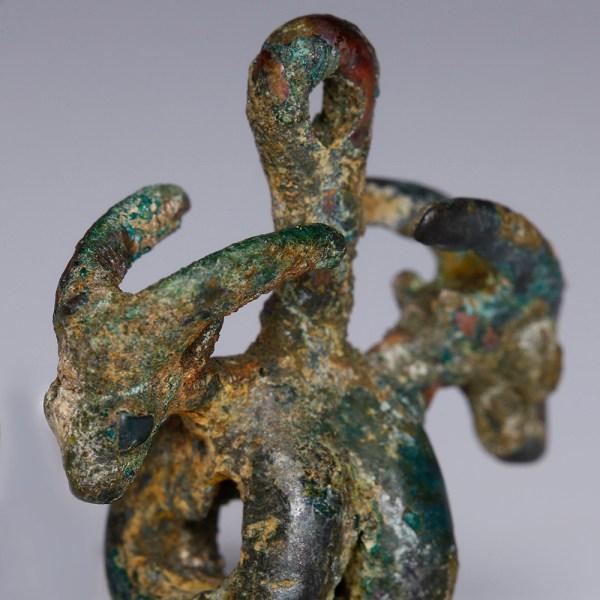 Luristan Bronze Pendant with Ibexes' Heads