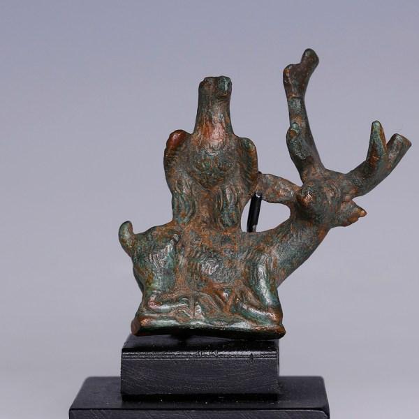 Roman Bronze Statuette of the Dolichene Couple