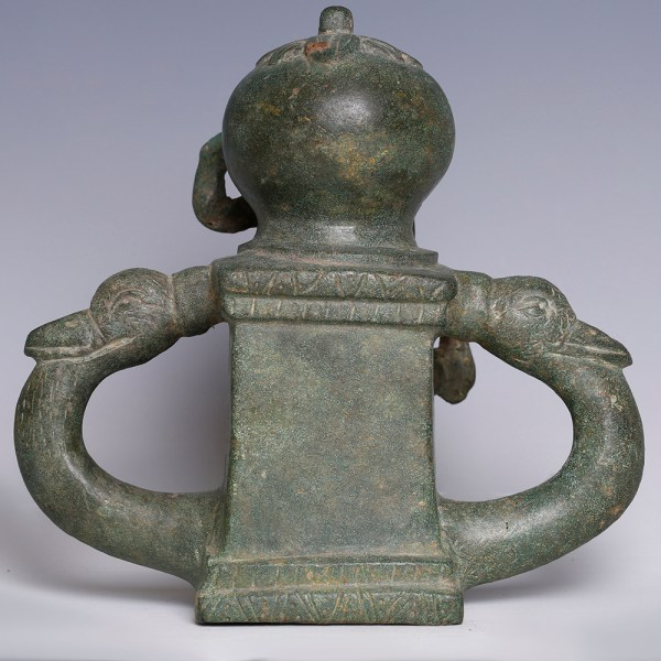Roman Bronze Chariot Fitting with Bacchus