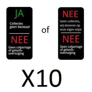 straatpakket stickers