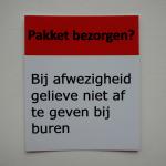 Pakket niet bij de buren afgeven sticker
