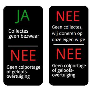 anti verkoop stickers tegen agressieve colportage