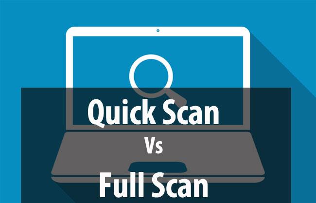 quick scan vs full scan