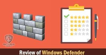 reviw of windows defender
