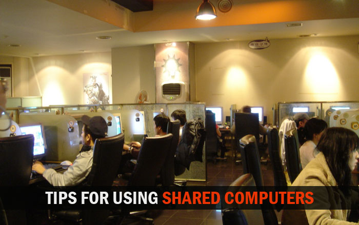 tips for using internet on shared computer
