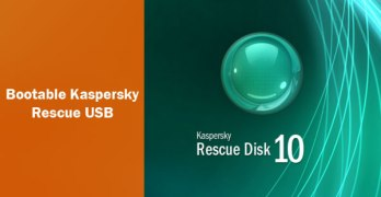 Bootable Kaspersky Rescue USB