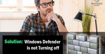 windows defender is not turning off
