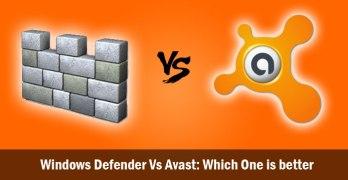 Windows Defender Vs Avast