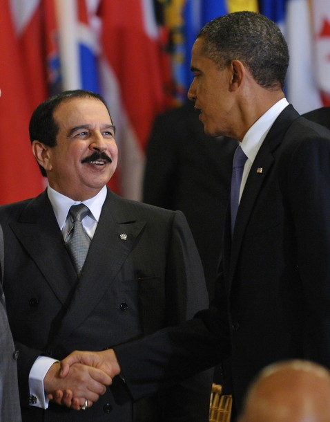 Obama meets with Bahrain King Hamad Bin Isa al-Khalifa