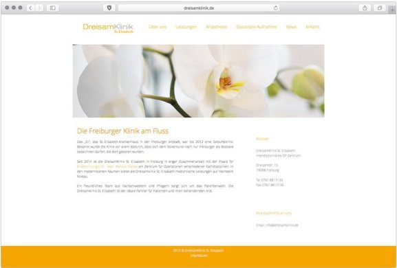 DreisamKlinik St. Elisabeth | Webseitengestaltung