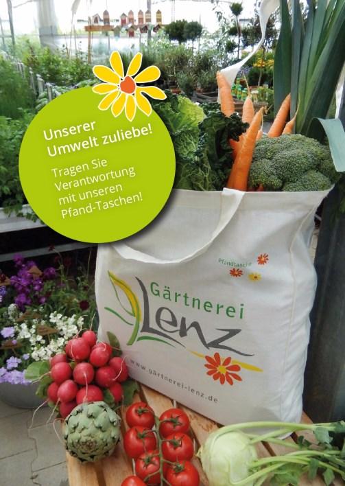 Gärtnerei und Hofladen Lenz | Tasche + Flyer