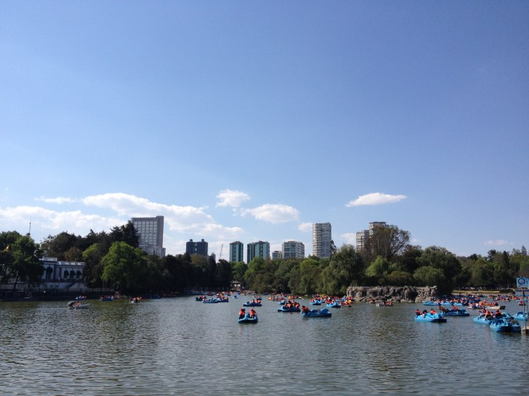"""The Bosque de Chapultepec (Náhuatl, """"hill of the grasshoppers"""") and lake of Chapultepec"""