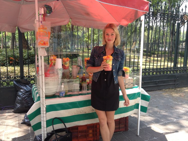Fruit salad, street food near Chapultepec park