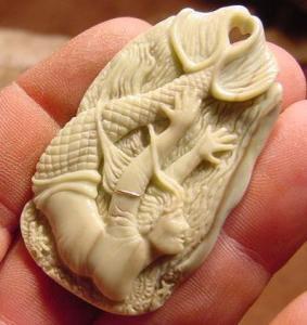 Carved Mermaid by Jack Brown