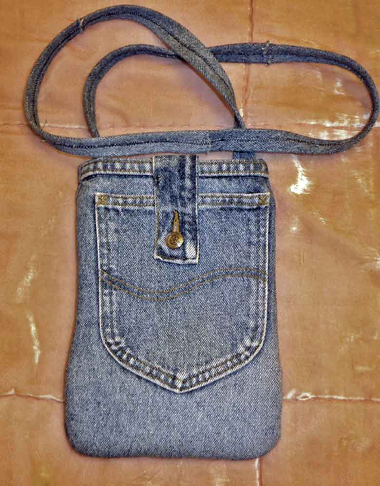 Jeansväska med bakficka