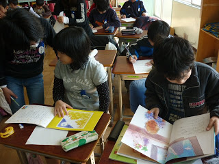 A Japanese school class reading Sadako's Prayer and Children of Light