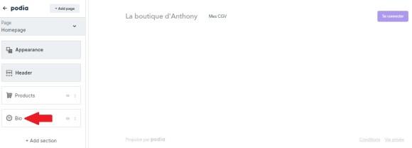 podia biographie homepage